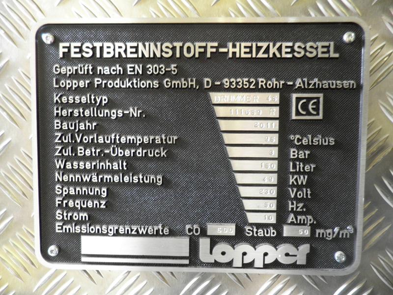 LOPPER Festbrennstoffkessel